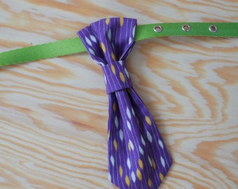 Doggie Necktie, purple and gold necktie, dog collar neck tie,
