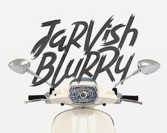 Jarvish Blurry Typeface Font Download Digital Brush Stylistic Alternates
