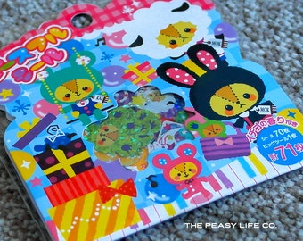 Animal Kigurumi Sticker Flake Pack 71 Stickers