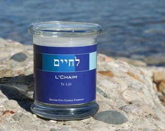 Lechaim; To Life Scented Soy Wax Candle