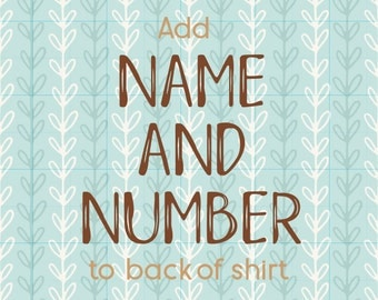 Add Name and/or Number to Back of Sports Shirt