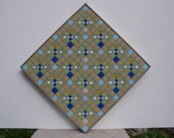 Murano mosaic handmade abstract geometric art painting Art Deco style