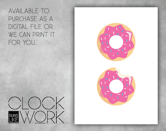 Wall Art, Prints, Home Decor, Inspirational Quotes, Nursery Prints, Printed or Digital File Available, Donuts