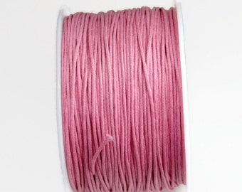 Wholesale Wax cord Pink Waxed Cotton Cord (1mm) 100 m- 110 yards S 40 087