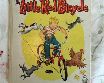 """Vintage Children's Book """" The Little Red Bicycle"""""""