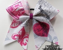 Pink and White Paris Bow