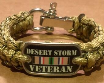 Desert Storm Veteran Paracord Survival Bracelet