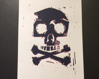 11 x 17 inch Skull and Crossbones print