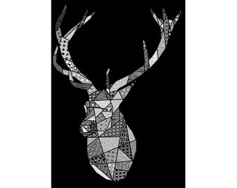 Graphic Art - Patterned Stag