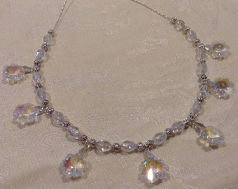 """Crystal Snowflakes """"Frozen"""" Necklace"""