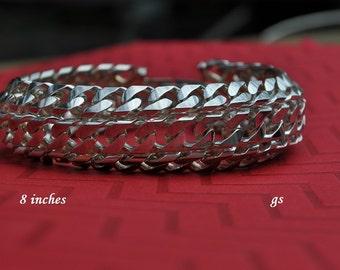 Vintage Chunky Bracelet, Silver Tone, Chunky Silver Bracelet, 8 Inch Bracelet, Vintage Bracelet, Silver Bracelet, Link Bracelet GS533