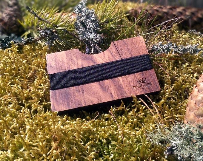 Walnut Handmade Wood Wallet - Slim wooden wallet - credit card wallet - GenteelWood wallet - Minimalistic wallet - Valentines gift
