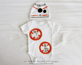 BB8 Baby/Toddler Costume Onesie Newborn to 18 months