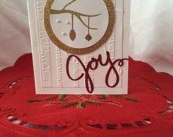 Handmade christmas card- joy