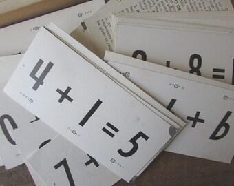 New Math Vintage Flashcards Addition Ed U Cards