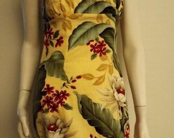 HAWAIIAN HIBISCUS PRINT Dress