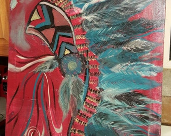 Indian Head dress painting