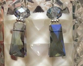 Smoky blue earrings