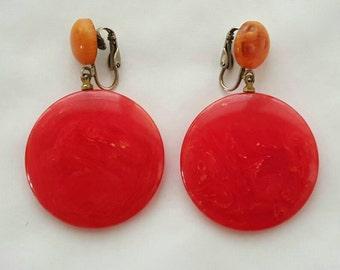 Colorful plastic earrings