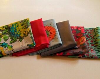 Fat Quarter Bundle Quilt Fabric Mod Corsage from Anna Maria Horner - 4 prints & 2 solids - Modern Floral Quilt Fabric