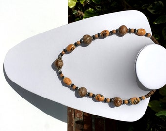 Chunky Ceramic Beads Necklace; Indian Jewellery, Handmade, Ceramic Necklace