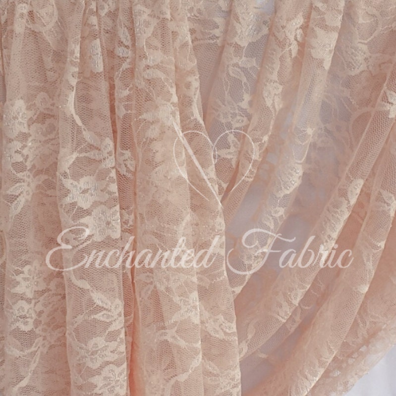 Lightweight and sheer bridal lace prom dress fabric floral for Wedding dress fabric samples