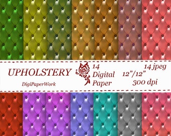 Upholstery Digital Paper, scrapbooking, Instant download, upholstery pattern, leather upholstery, for Personal and Commercial use