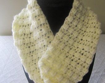 Bone color infinity scarf