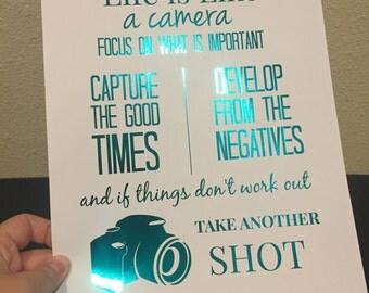Photographer foil print