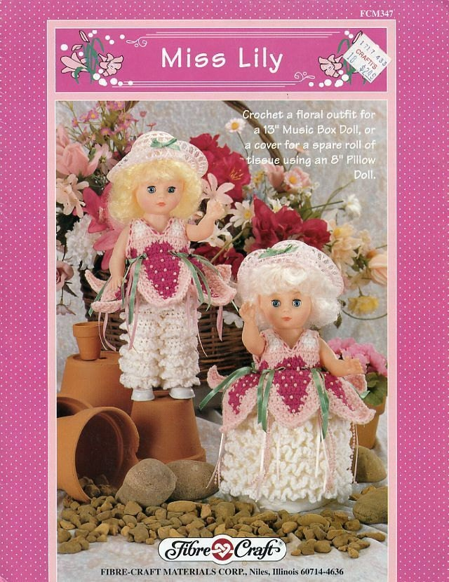 Miss lily fibre craft 13 inch music box doll or 8 inch for Fibre craft 18 inch doll