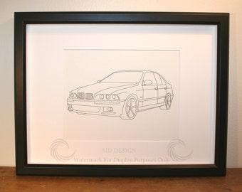 BMW M5, Picture, Framed, Digital Art, Cars