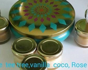 Lip balm kiss me (3 flavours: coco tee tree,coco vanilla,coco rose)