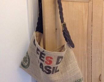 Upcycled coffee sack bag