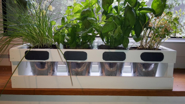 #89A823 Kitchen Herb Planter Herb Garden White By SauJes On Etsy Kitchen  Window Herb Planters