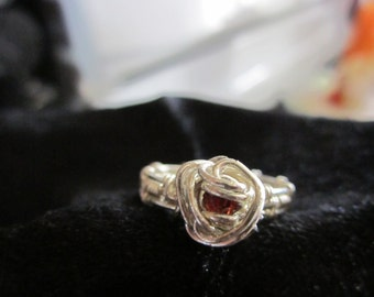 Sterling Silver Ruby Ring, Size 7
