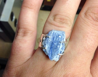 Sterling silver kyanite ring size 7