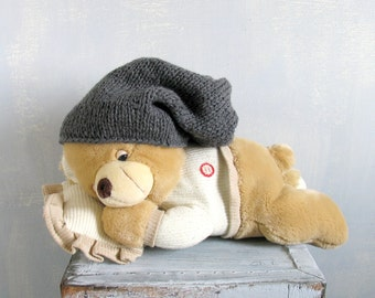Baby Knit Hat Baby Girl Knit Hat Knit Newborn Hat Baby Winter Hat Baby Goth Hat Baby Hat Toddler Baby Grunge Hat Grunge Hat Goth Hat