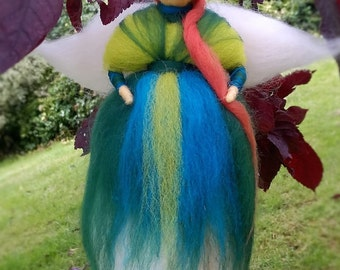Needle felted wool teeth fairy - natural product- Hand made/waldorf doll