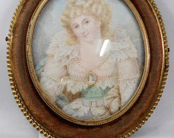Portrait miniature of a young woman Mademoiselle de Biron