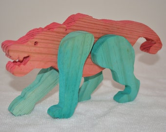 Handmade Wooden Wolf