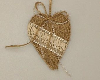 Christmas ornament, christmas tree decoration heart shaped