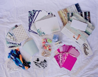 Scrapbooking Destash - Pocket Letter supplies