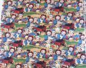 Raggedy Ann & Andy Packed Dolls Fabric Daisy Kingdom #4436