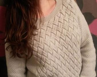 New Design Handmade Knitted Cotton Sweater
