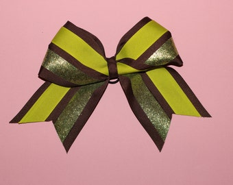 Green Sparkly Cheerleading Bow