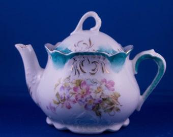 Alice in Wonderland-ish Vintage Gilded Tea Pot
