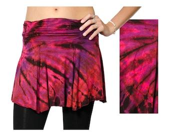 Tie Dye Mini Skirt - Red Multi - 1098R