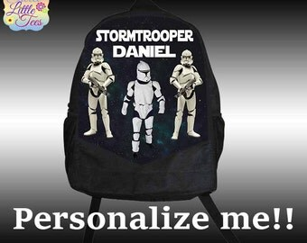 Personalized Stormtrooper Backpack, Star Wars backpack, Custom backpack