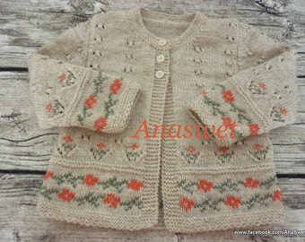 Pattern baby cardigan/Knitted baby cardigan/Baby pattern PDF/Baby Jacket