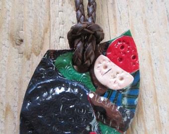 Leather necklace-Leather necklace-Collar de cuero